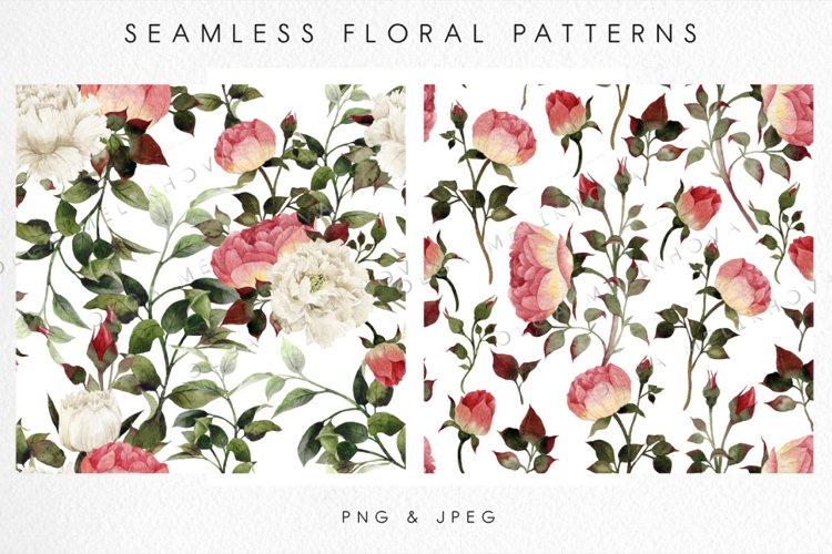 Seamless floral patterns example image 1