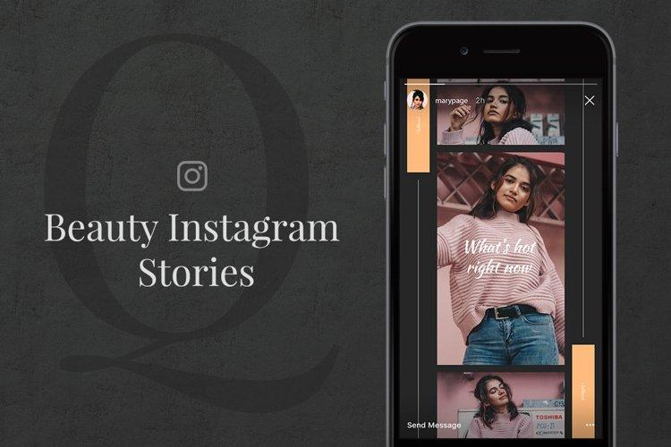Q Beauty Instagram Stories