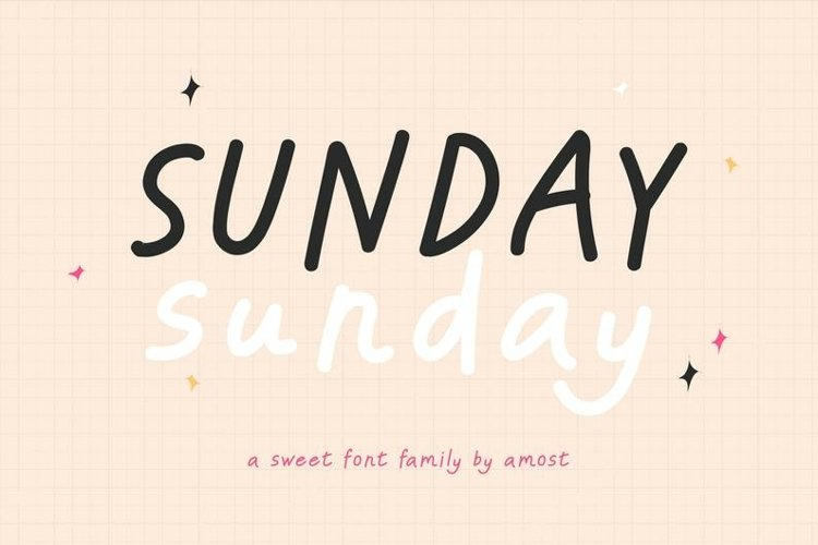 Sunday Sunday - Handwritten Font Family example image 1