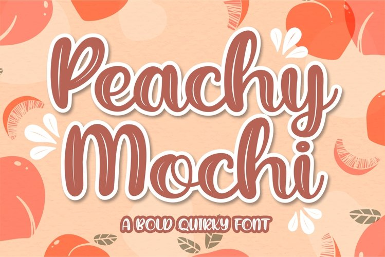 Peachy Mochi - A Bold Quirky example image 1