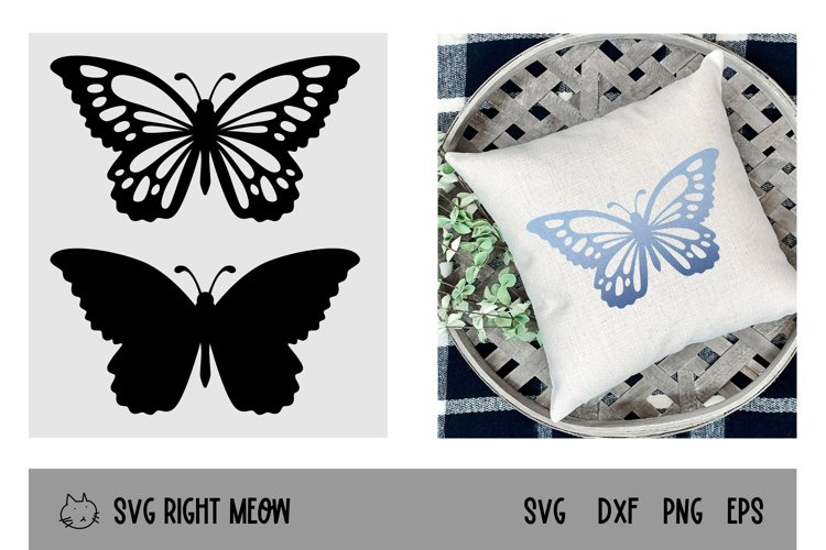 Two Butterfly SVG Monarch Butterflies Layered SVG Cut File