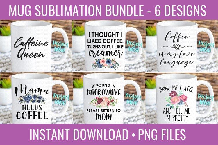 Mug Designs PNG Bundle for Sublimation - Coffee Mug PNG