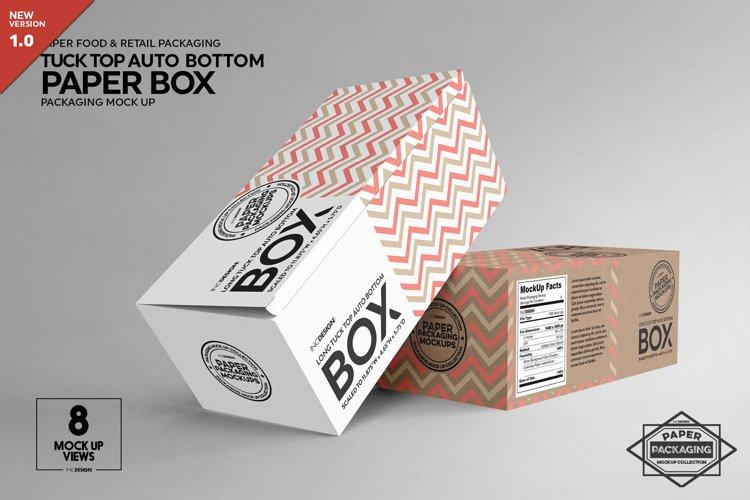 Long Top Tuck Auto Bottom Box Packaging Mockup
