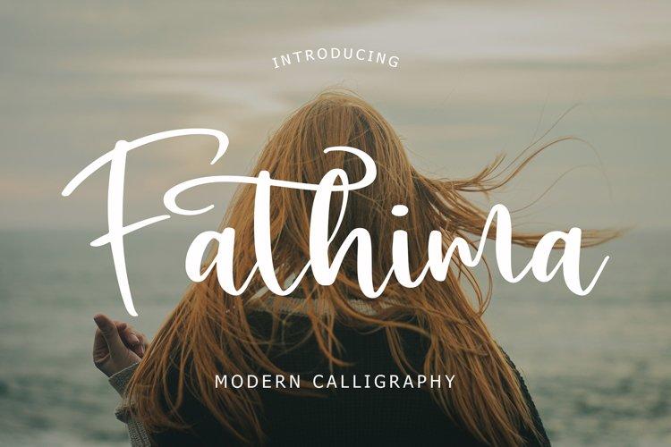 Fathima Modern Script Font example image 1