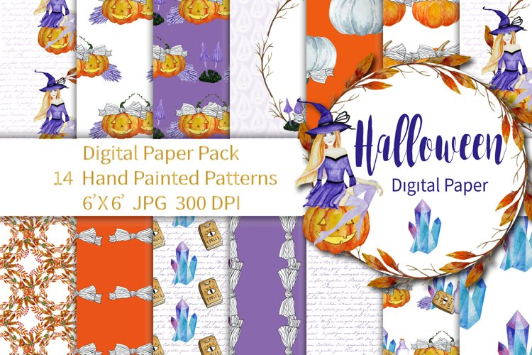 Halloween Digital Paper Pack example image 1