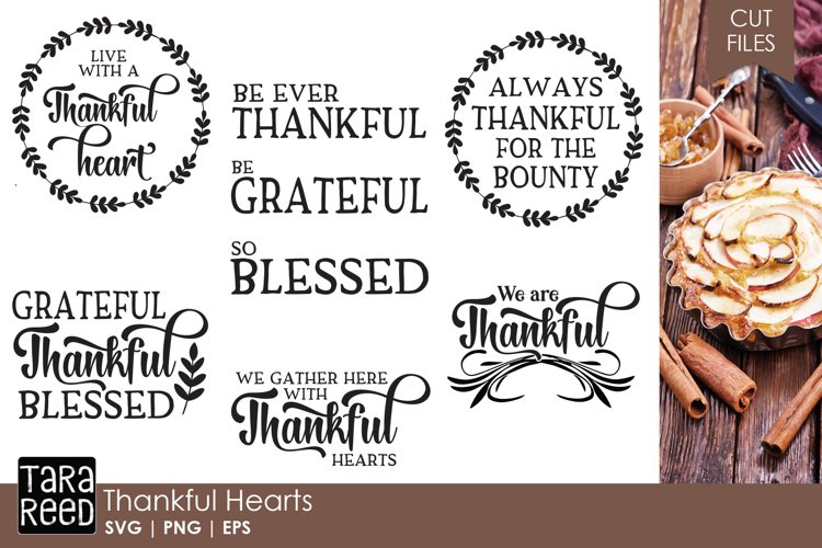 Thankful Heart - Thanksgiving SVG and Cut Files for Crafters