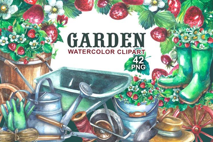 Gardening Watercolor clipart