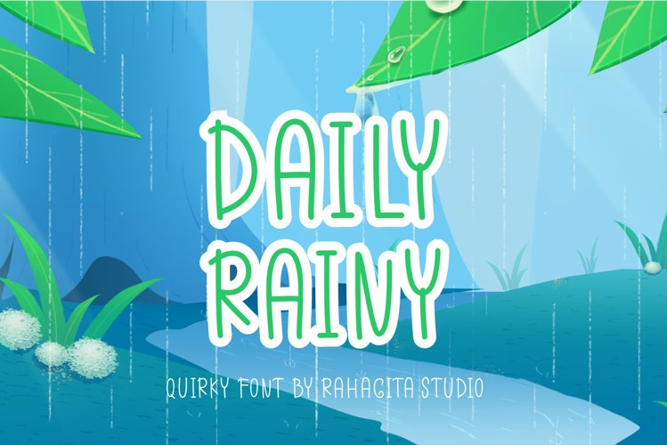 Daily Rainy - Quirky Display Font example image 1