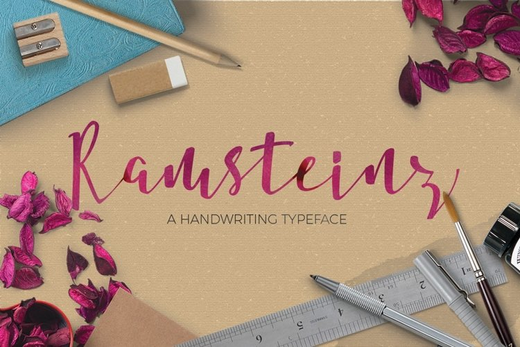 Web Font Ramsteinz Typeface example image 1