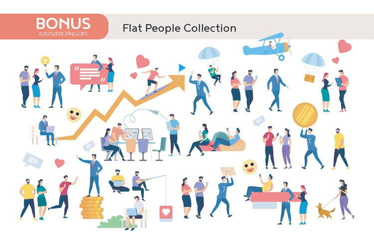 Online Education Flat Collection example image 1