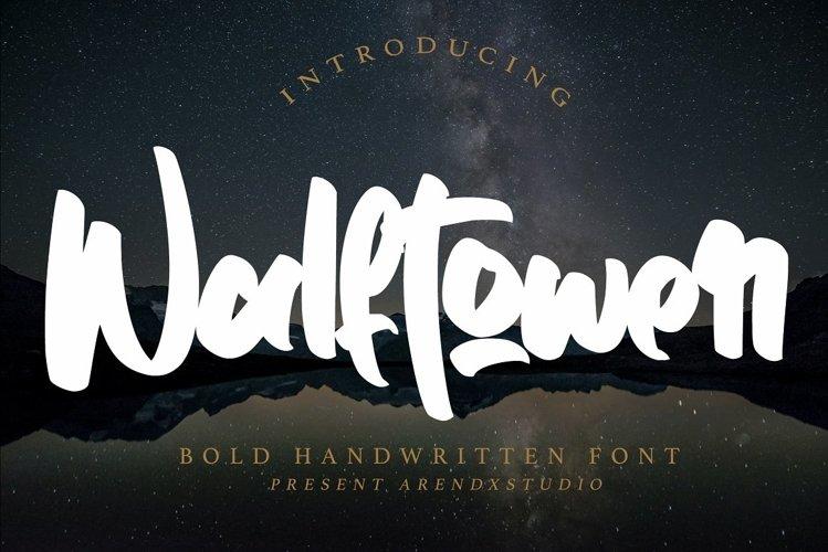 Walftower - Bold Handwritten Font example image 1