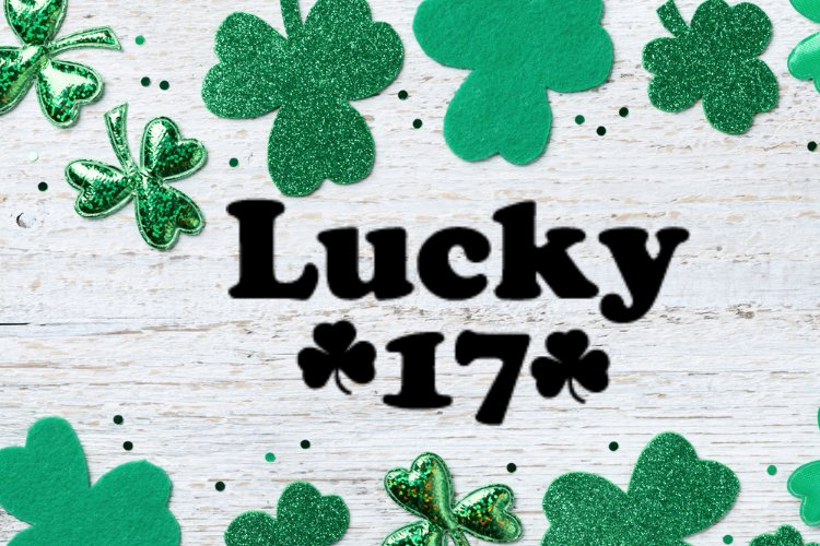 Lucky 17 Svg, Instant Download example image 1