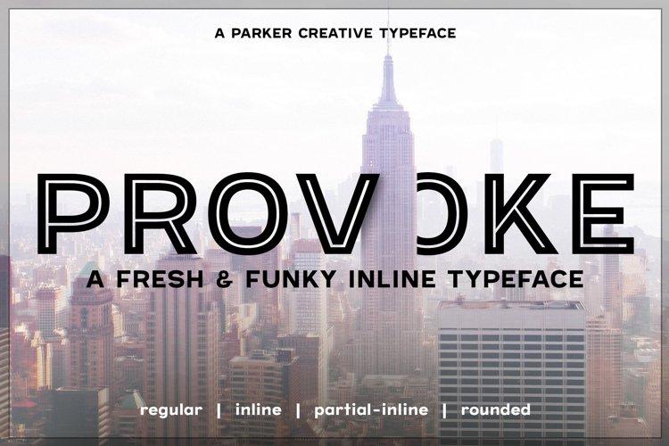 Provoke Trendy Inline Webfont example image 1