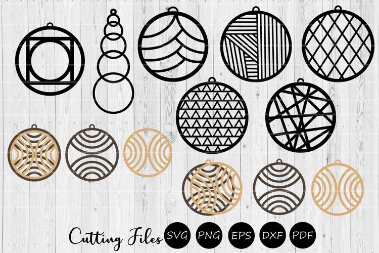 Download Geometric Earrings Svg Cut Files Laser Cutting 303927 Svgs Design Bundles