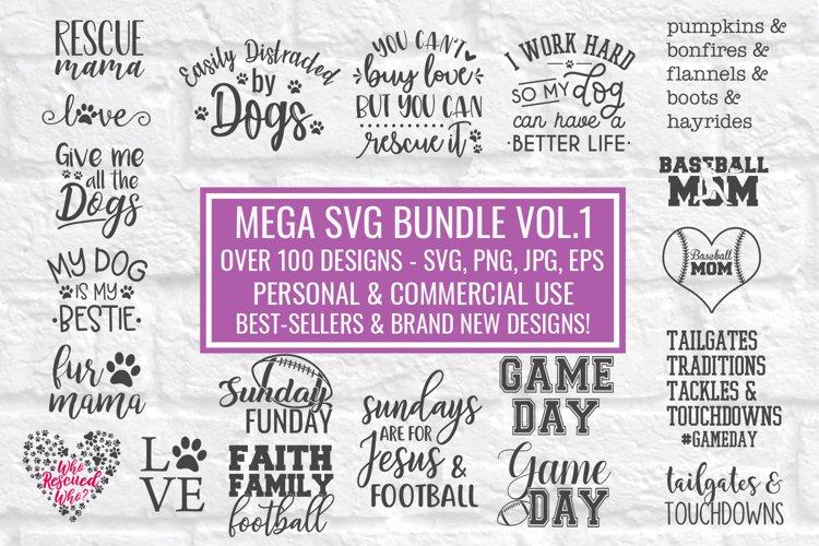 Mega SVG Bundle Cut File Designs for Crafters-Over 100 Files
