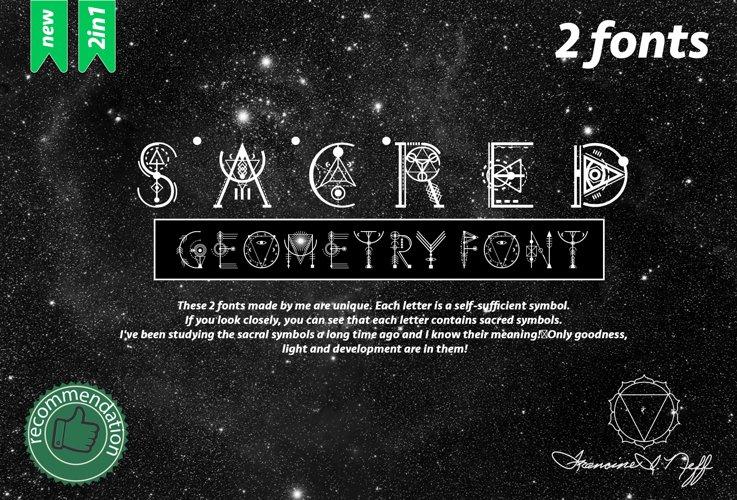 Sacred's fonts Bundle example image 1