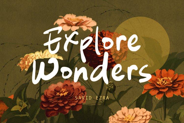 Explore Wonders - Bold Handwritten Font example image 1