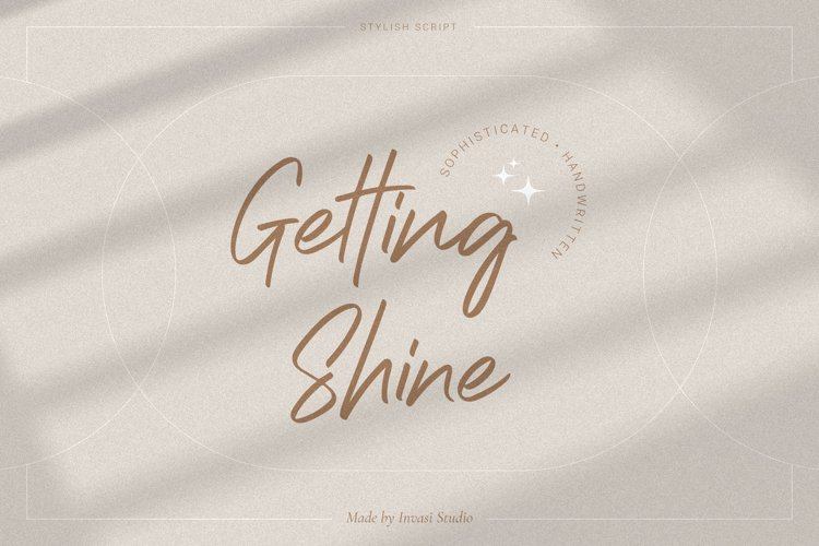 Getting Shine - Stylish Script example image 1