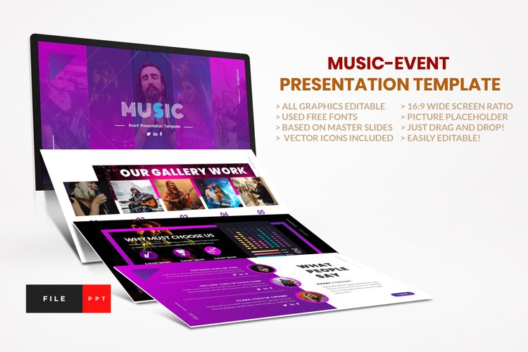 Music - Event PowerPoint Template