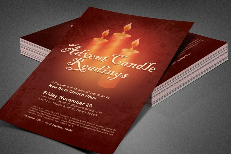 Advent Candle Readings Church Flyer
