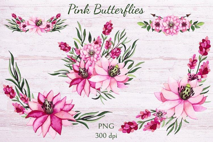 Pink Butterflies example 2
