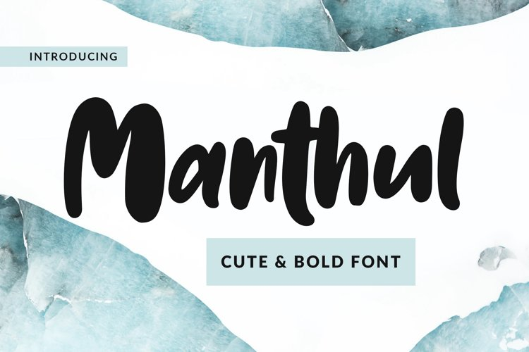 Manthul - Cute & Bold Font example image 1