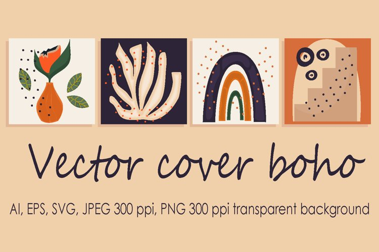 Abstract trendy universal vector background template boho example image 1