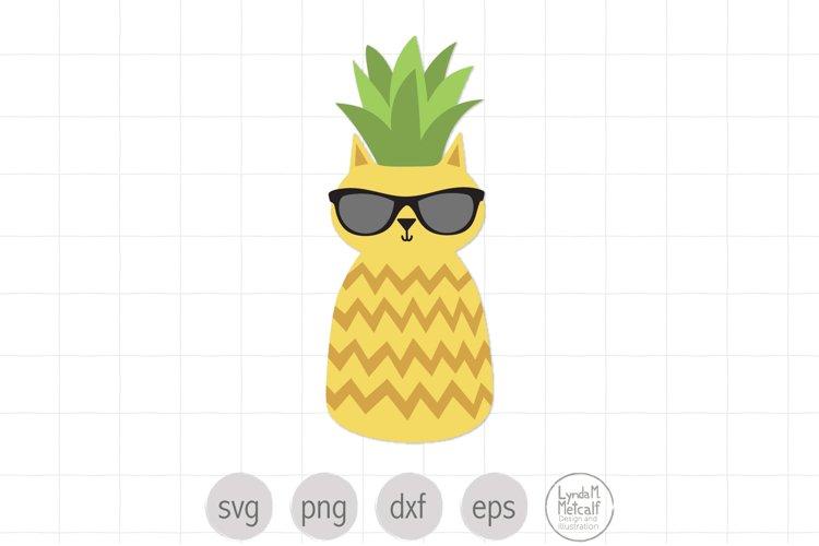Cat in Sunglasses Svg, Pineapple Svg, Summer Cat svg