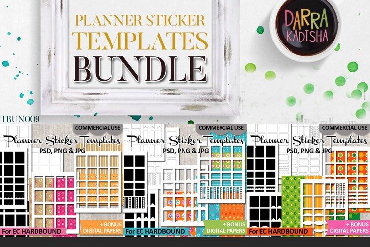 Templates Bundle Vol. 9 - EC Hardbound Planner Stickers