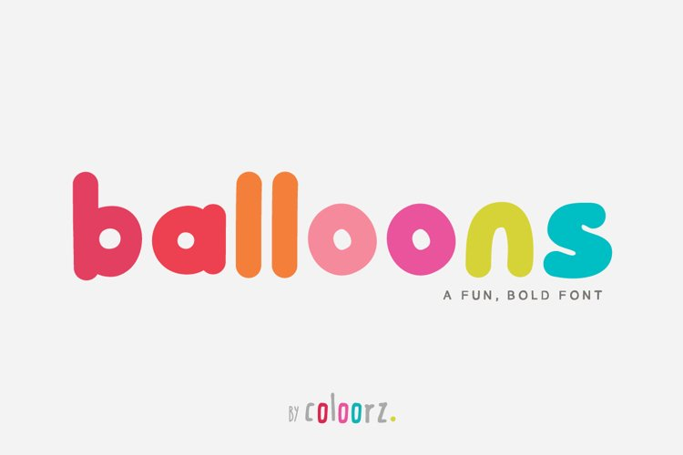 Balloons Font example image 1