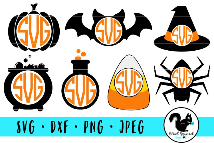 Halloween Monogram Frames SVG Bundle example image 1