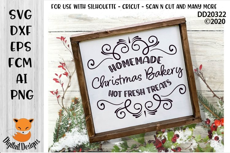 Christmas Bakery Cafe SVG for Silhouette, Cricut example image 1