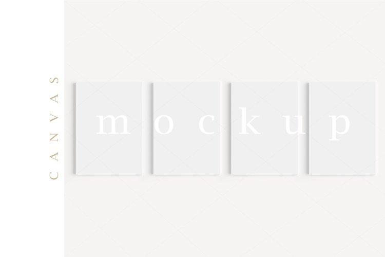 A4 Canvas Mockup Display Simple Modern Painting Mockup/M334 example image 1