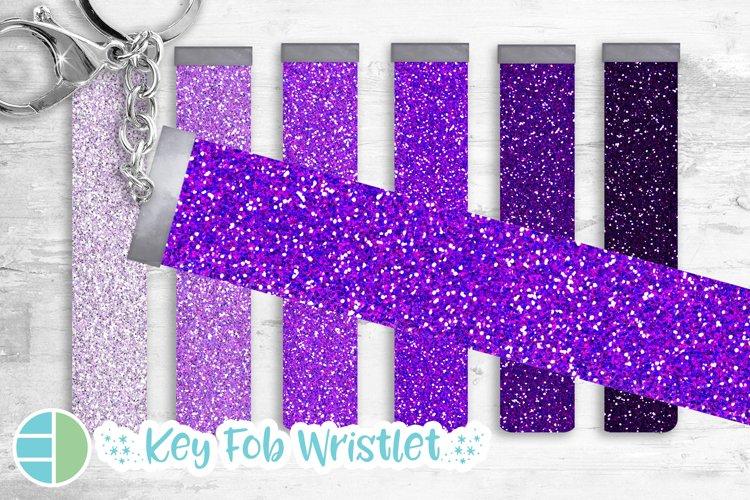 Mardi Gras Purple Glitter Key Fob Wristlet Sublimation Bundl example image 1