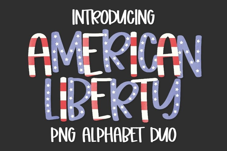 Sublimation Alphabet - PNG Stars & Stripes Patterned Letters