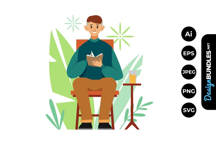 Man Me Time Illustrations example image 1