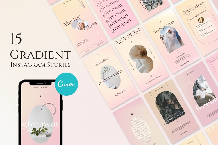 Gradient Instagram Stories Templates
