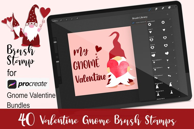 Valentine Gnome Procreate Brush Stamps