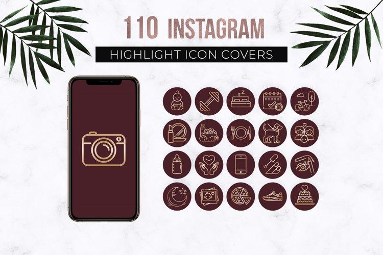 Burgundy Instagram Story Highlights