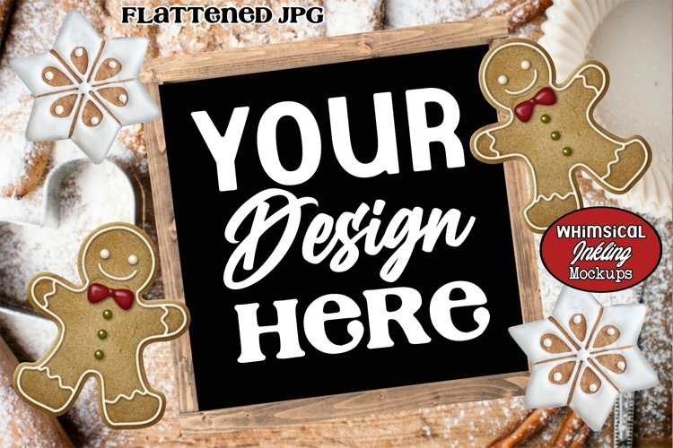Gingerbread Cookies Sign Mockup example image 1