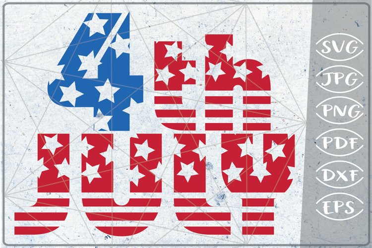 4th of July SVG Independence Day Crafters America Flag Files example image 1