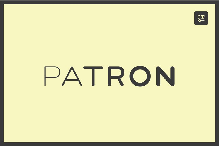 PATRON - variable font with optional stencils & monoline example image 1