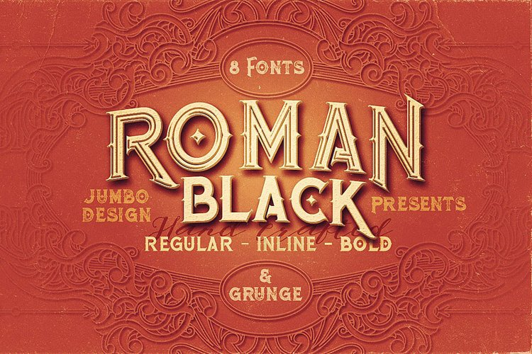 Roman Black - 8 Display Fonts example image 1