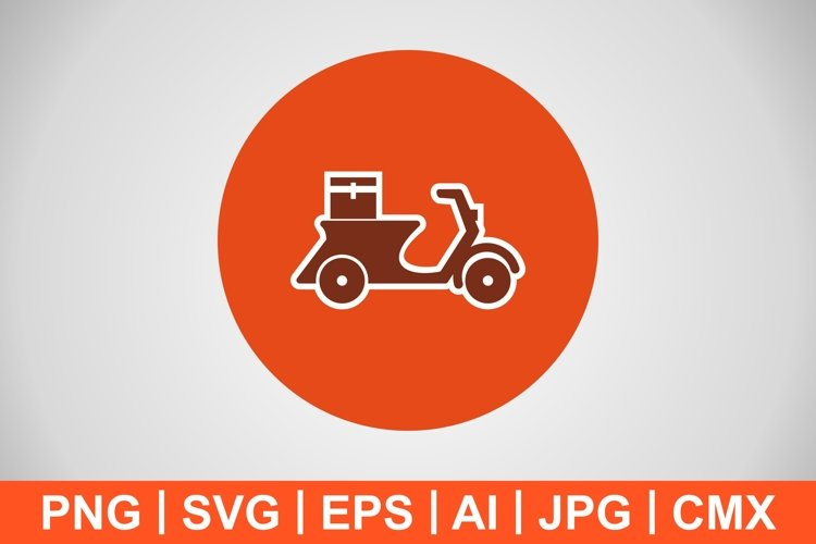 Vector Delivery Motorbike Icon example image 1