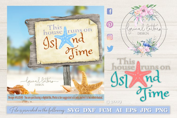 This House Runs On Island Time SVG DXF LL034B example image 1