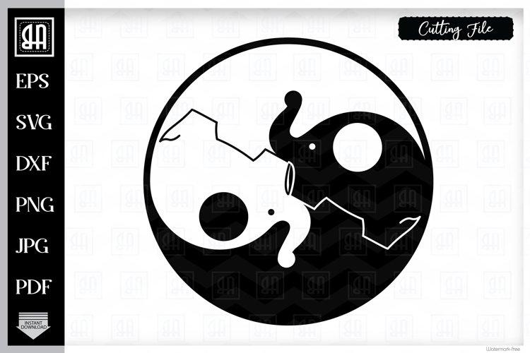 Jin Jang SVG, Elephant SVG, Jin Jang elephants SVG, Jin Jang example image 1
