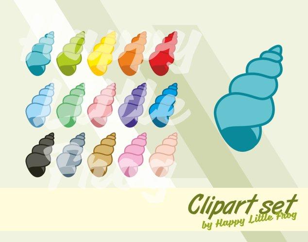 Shell clipart, snail clipart, snail shell clipart, teaching preschool cliparts, shell print, snail, ocean clipart example image 1