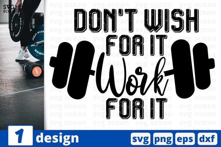 WORKING HARD SVG CUT FILE | Fitness cricut | Work quote example image 1