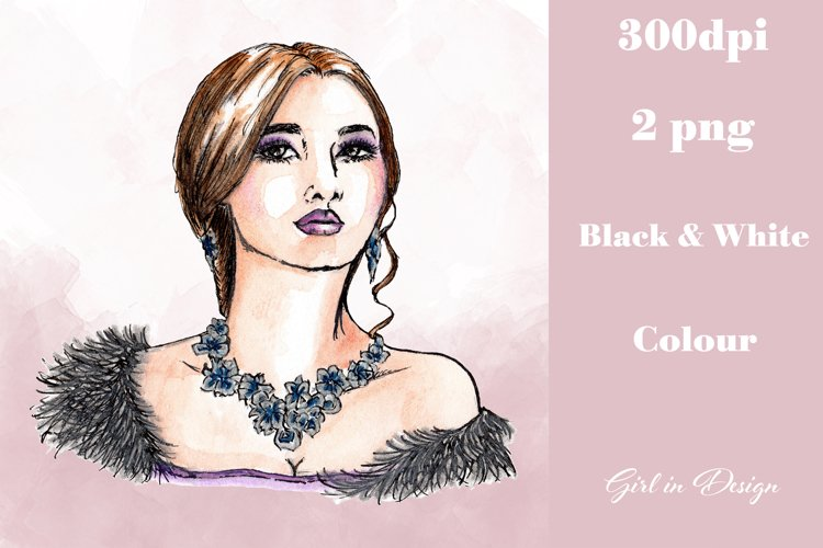 Necklace Girl Jewellery Party New Year Clipart example image 1