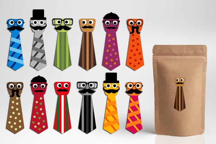 Fathers day clipart - Necktie characters graphics